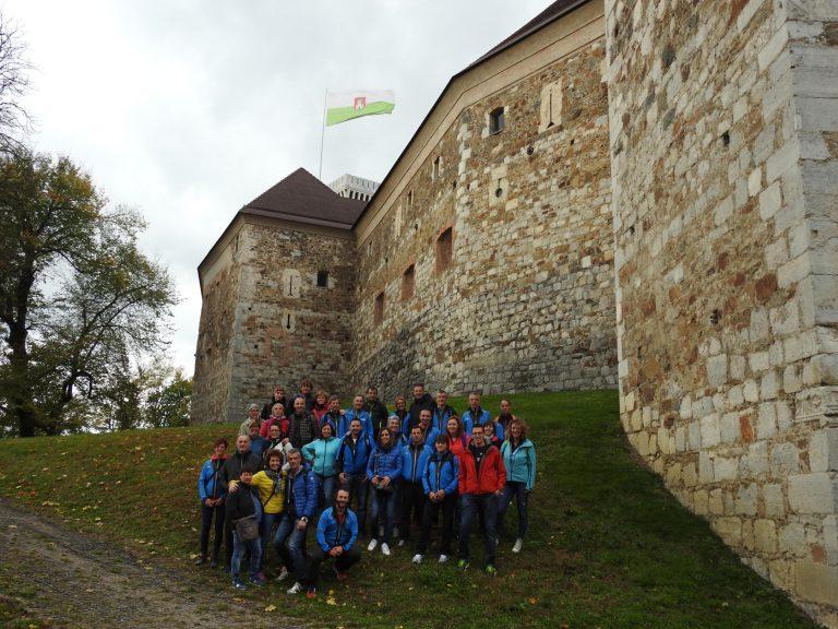 Il castello di Ljubljana. Nando manca, chissà dov'era?