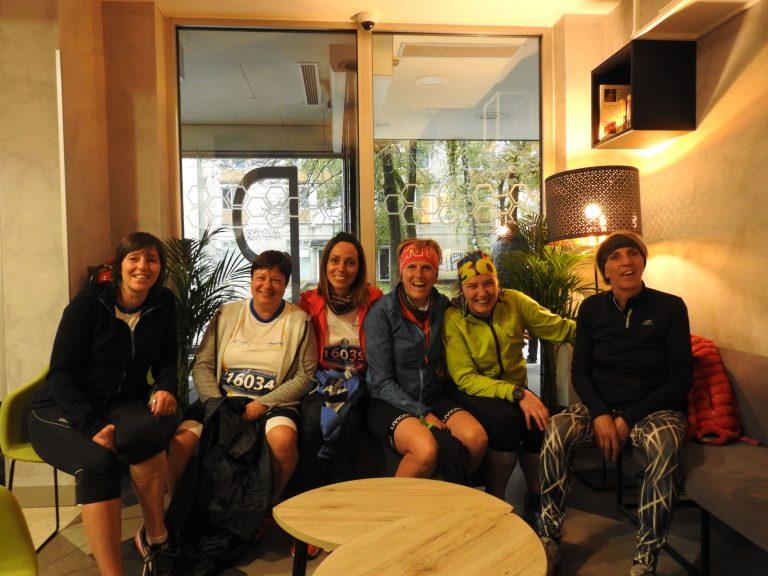 Le atlete della 10 km, le prime a fare colazione!